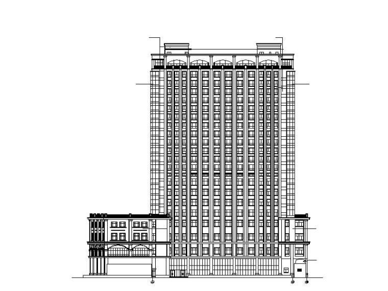 某酒店建筑全套施工图图