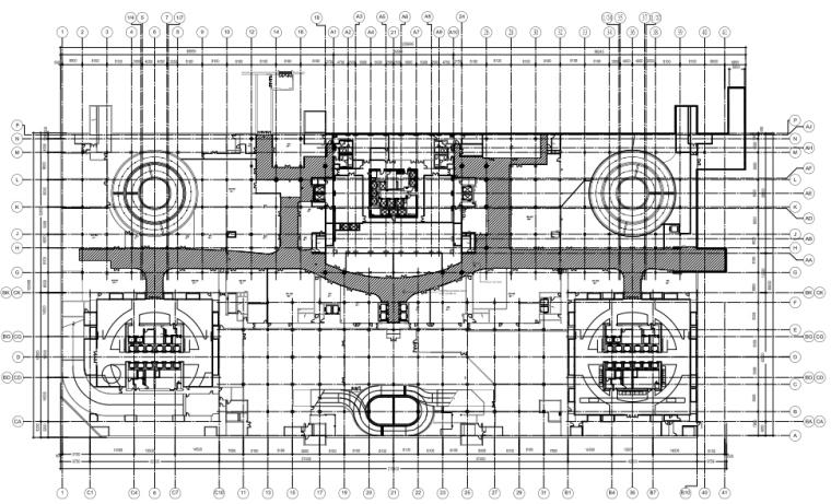 [北京]银泰中心商业公共区域B1&3层室内设计施工图+效果图