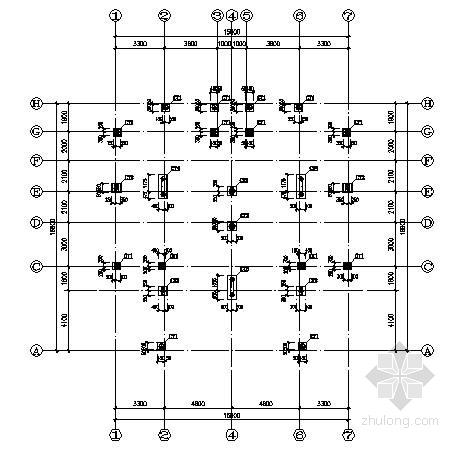 三层框架别墅住宅结构施工图