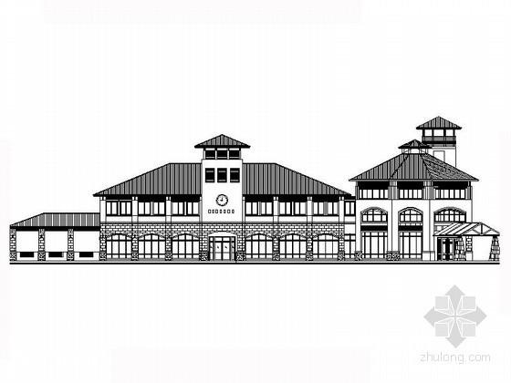 某二层欧式会所建筑方案图