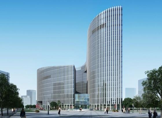 [北京]玻璃幕墙高层办公综合体建筑设计方案文本(多方案比对)