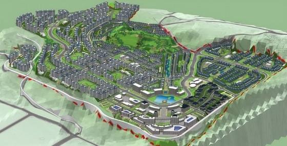 [重庆]巴渝特色国际化城市综合体景观规划设计方案-鸟瞰图