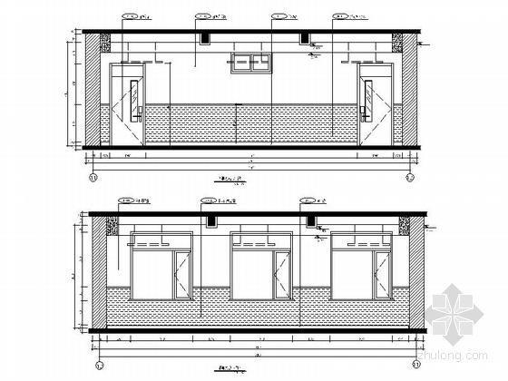 [原创]现代风格小学室内设计装修施工图(含高清效果)普通教室立面图