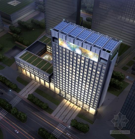 [甘肃]19层现代论文别墅商务中心建筑设计方案金融小文本平面设计风格图片