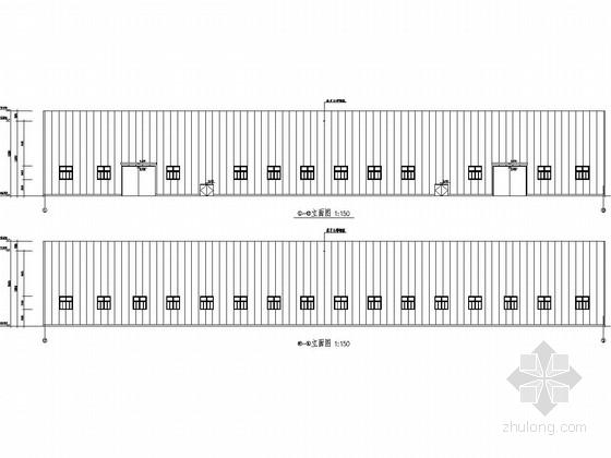 [江苏]单层门式刚架结构钢材加工车间结构施工图