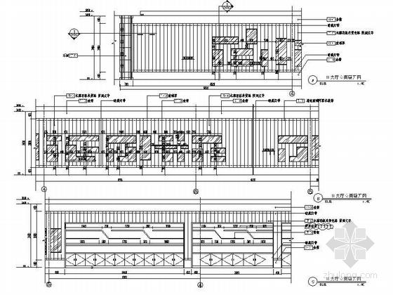 [北京]原创综合医药研究院典雅中式医院装修施工图(含效果)大厅立面图