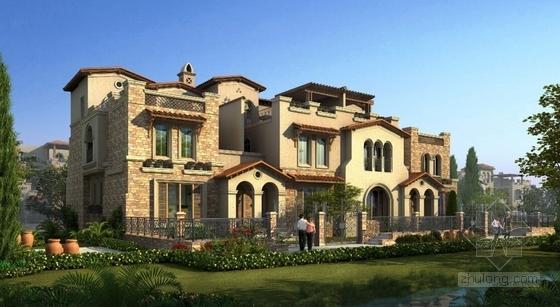 西班牙风格住宅区效果图