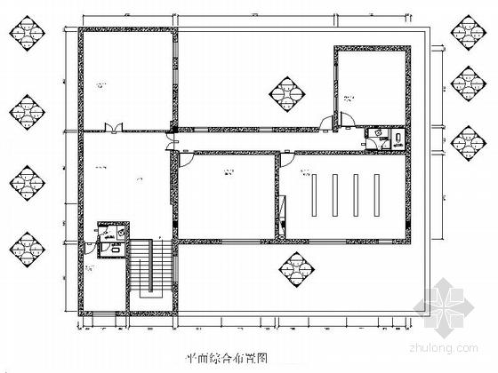 [山西]高档气派新中式风格办公室施工图