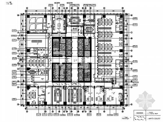 [湖南]高档现代商业公司办公室室内装修施工图