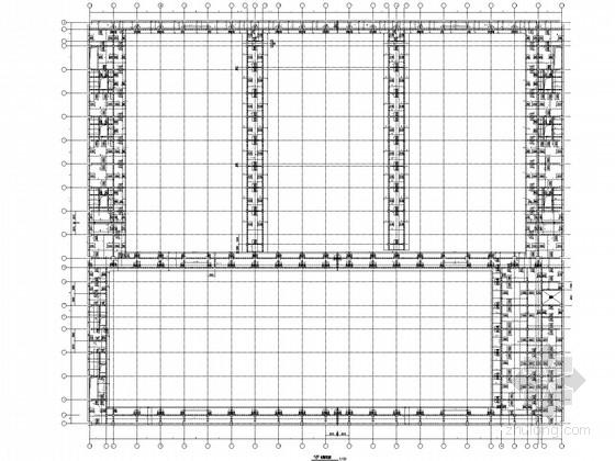 [辽宁]二层框架净水厂净水车间结构施工图