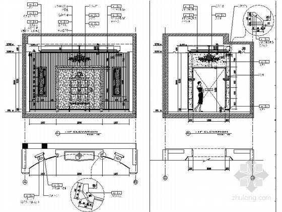 [原创]高档奢华三层别墅室内装修施工图(世界细图纸别墅的我宏伟图片