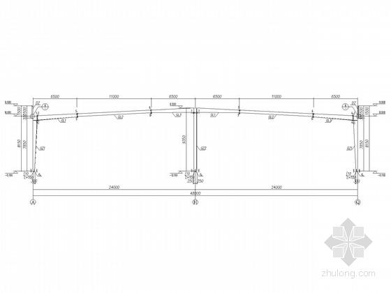 60米长,48米跨度门式刚架结构施工图