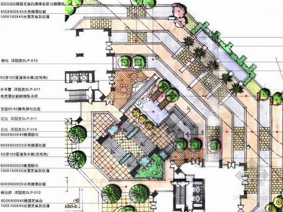 [深圳]花园别墅景观环境扩初设计方案(手绘)