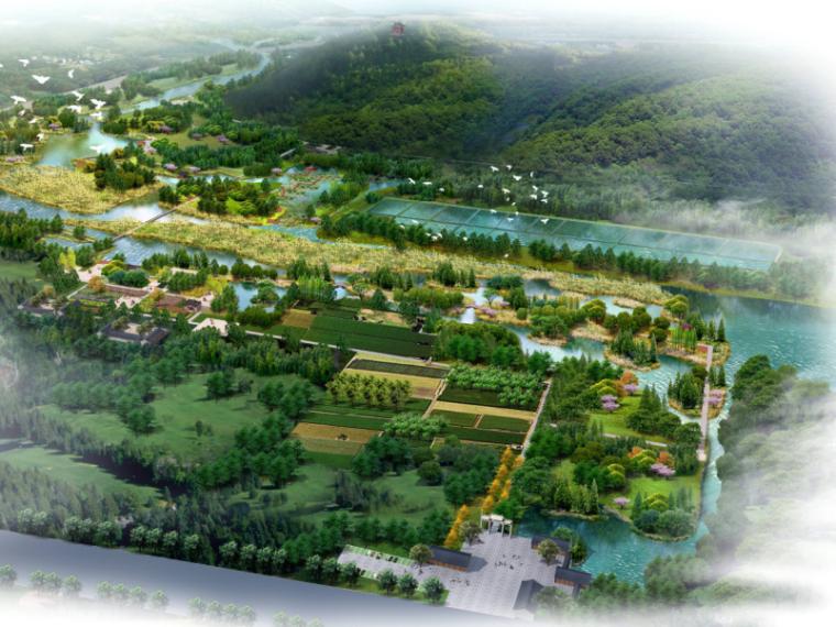 [山东] 鸡龙河公园湿地生态旅游规划景观概念设计(PDF+108页)