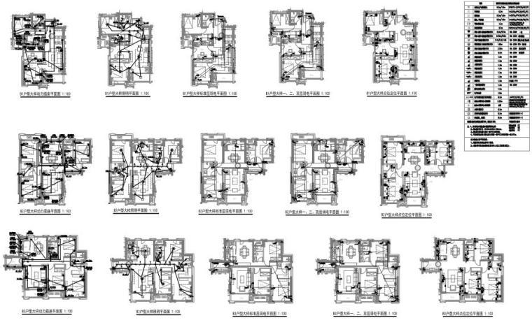 陕西省住宅及配套商业电气施工图纸