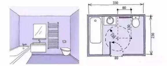 卫生间装修尺寸,精细到每一毫米的设计!_15