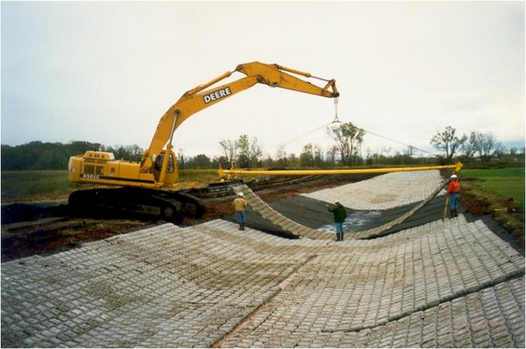 铰链式护坡技术开发与推广项目工作总结