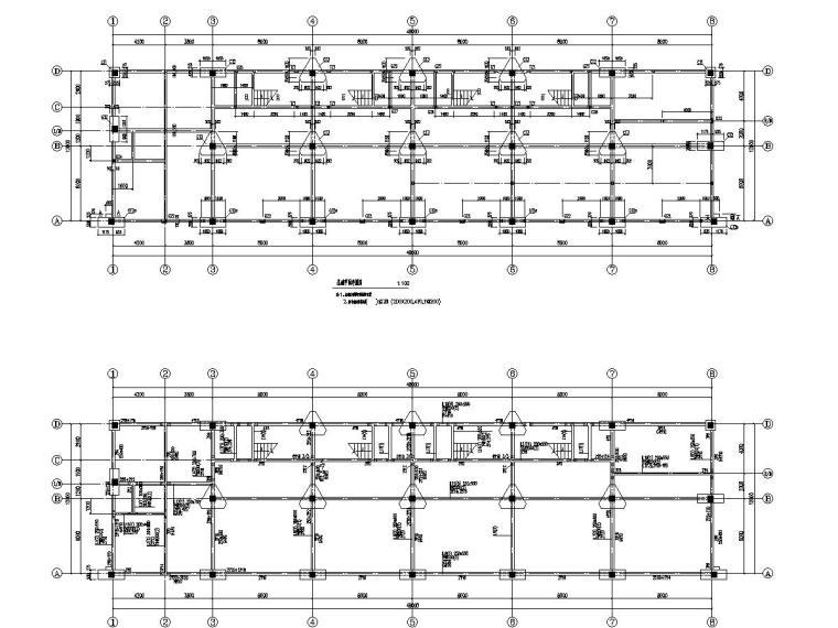 新建小区住宅楼、公建、社区服务用房、车库结构图(含勘察报告)