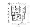 简约风格两居室130平米CAD施工图(含效果图)