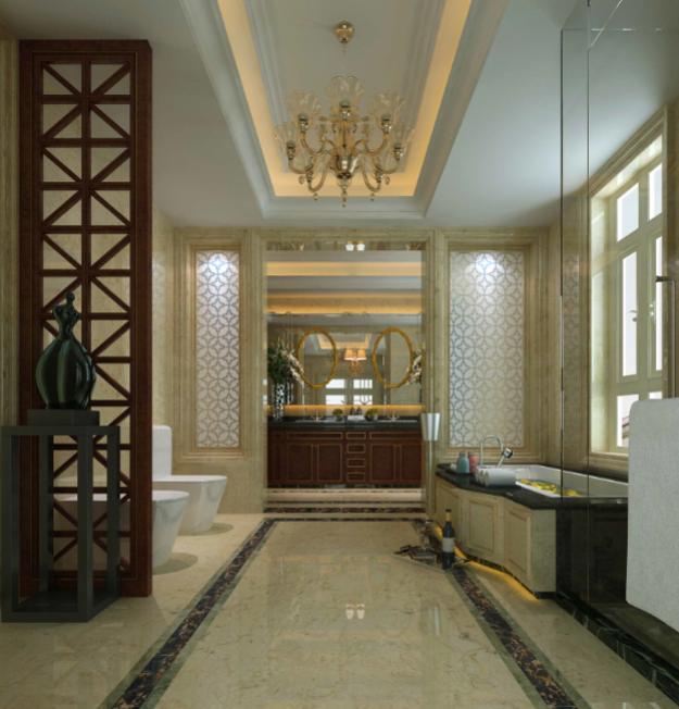 南通博园岚郡别墅室内设计施工图(含效果图)-卫生间效果图