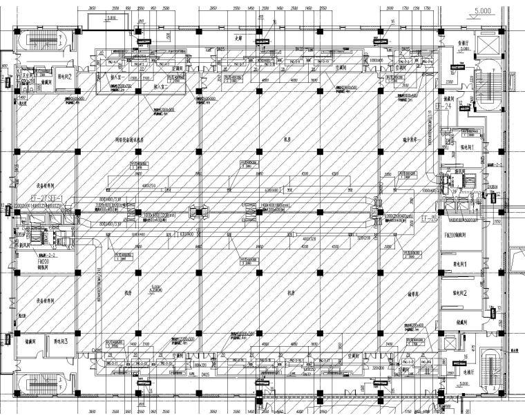 [上海]某大型数据处理中心暖通施工图
