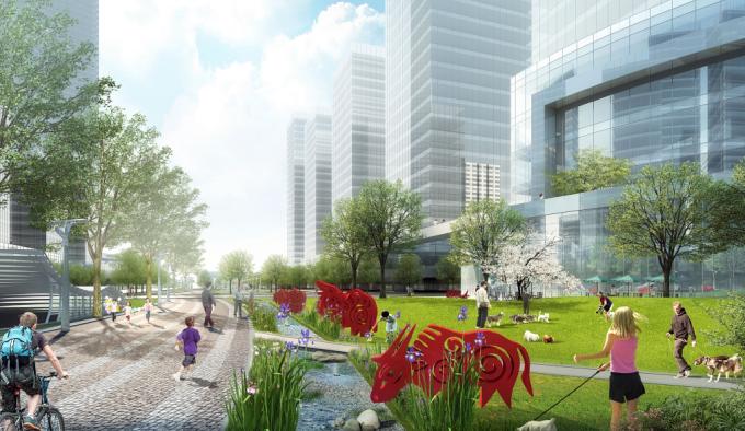 """[湖北]""""海绵城市""""生态智能体验式商业街区景观设计方案(上、中、下篇3个文本)_6"""