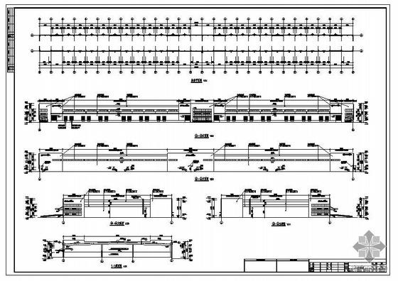 南京江宁某钢结构物流仓储建筑结构图