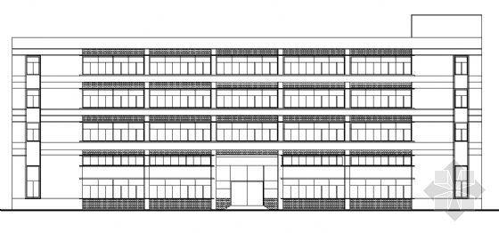 四层正方形商场建筑方案图
