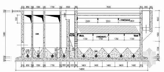 污水处理厂-混凝沉淀池结构图纸