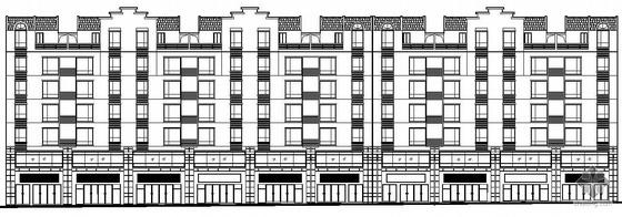 [四川德阳市]某六层住宅楼群组团建筑结构水电施工图(带地下室)