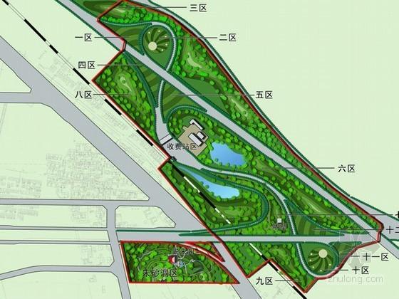 某高速路入口处绿化景观设计方案
