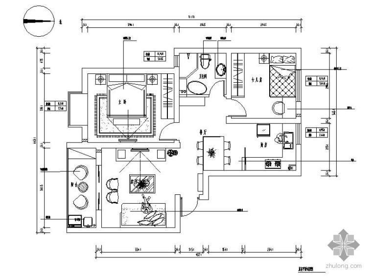 现代中式二室二厅装修图(含效果)