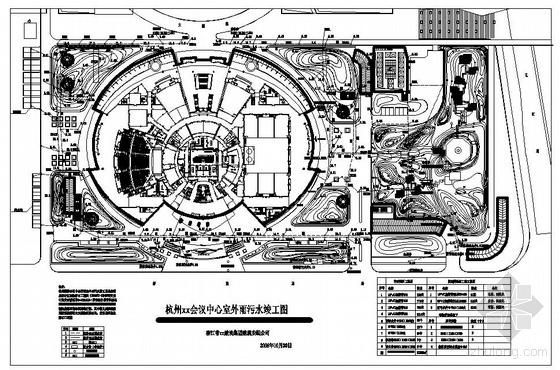 杭州某会议中心室外雨污水竣工图
