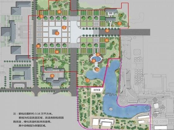 [宁夏]轴线对称型博物馆广场设计方案