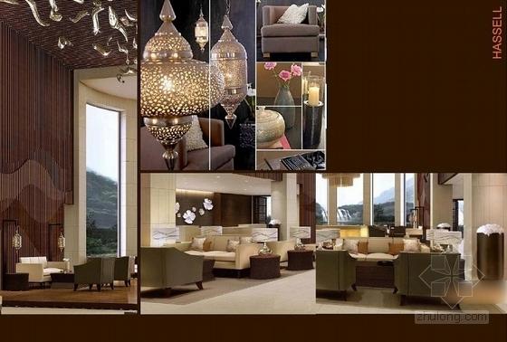 [贵阳]总投资10亿全球豪华五星级酒店设计方案大堂概念图