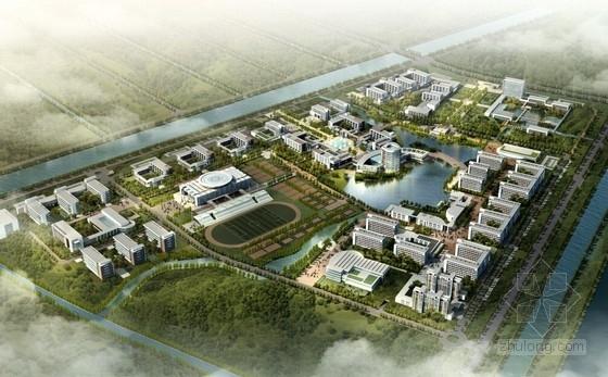 [江苏]现代风格大学校园规划设计方案文本(PSD)
