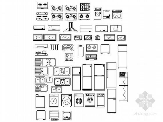u型楼梯cad图块资料下载-超全现代家居CAD图块下载