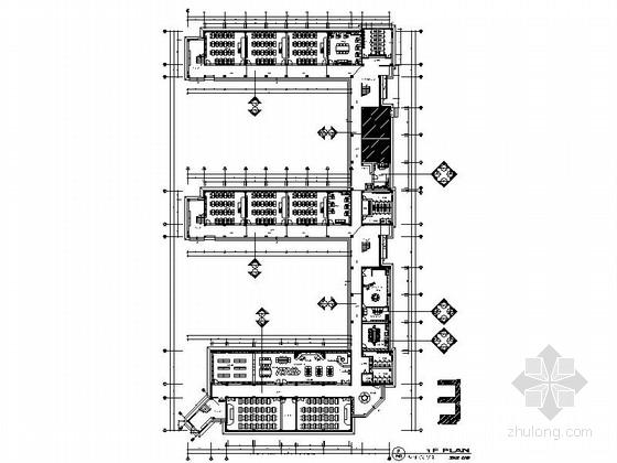 [浙江]生态园现代风格四层实验小学室内装修施工图(132张)