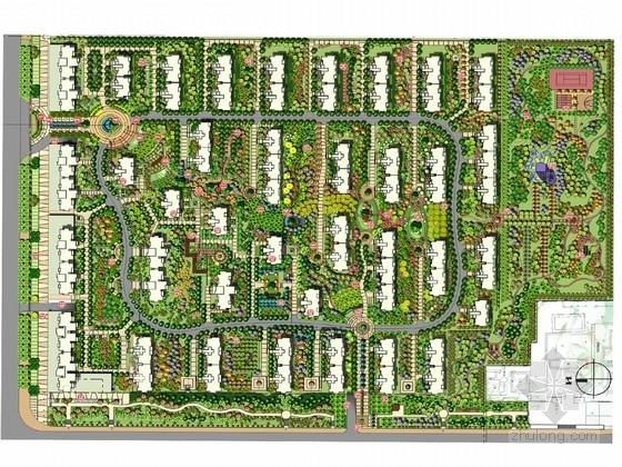 """[安徽]""""山林乐章""""现代住宅景观设计方案"""