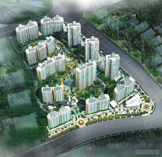 上海某大型小区规划总图-2