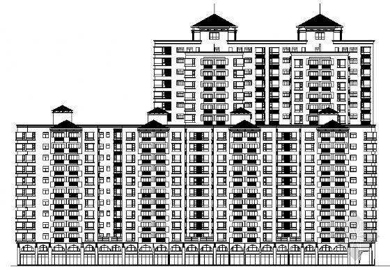 深圳某大型小区建筑施工图C栋