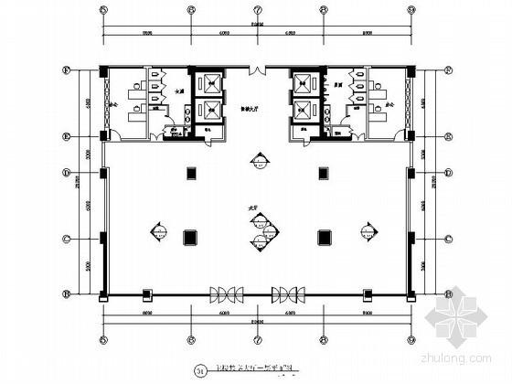 科技园办公大楼门厅室内装修图