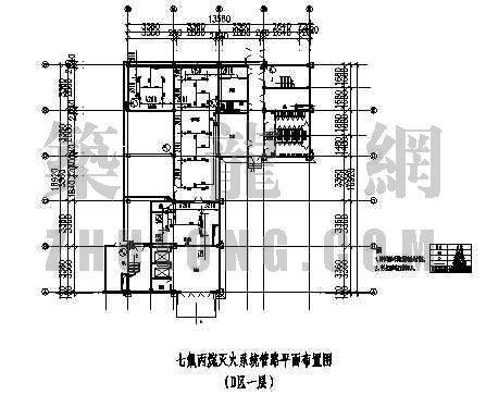 消防图管路图资料下载-某建筑七氟丙烷灭火系统管路设计图