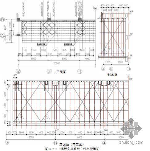 35米高空大悬挑结构模板支撑系统设计