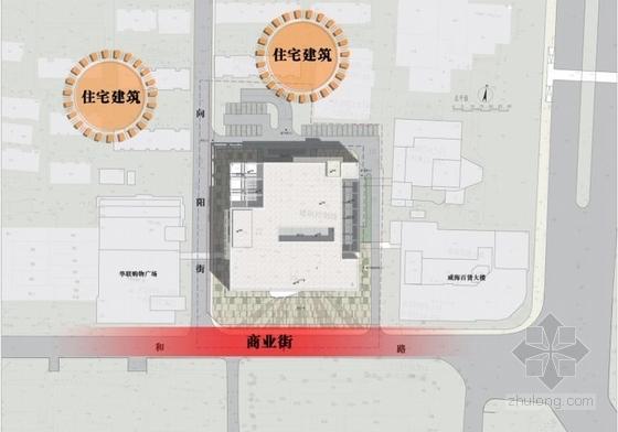 [山东]高层椭圆咬合型精品商业楼建筑设计方案文本-高层椭圆咬合型精品商业楼建筑分析图