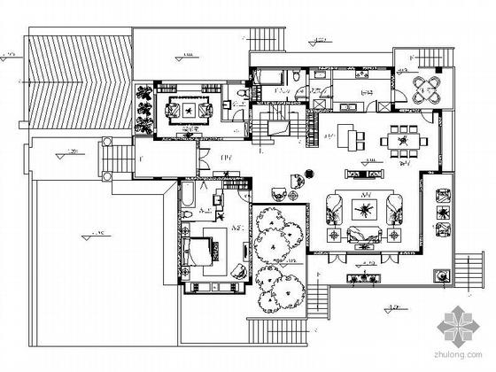 [成都]某豪华别墅样板房精装图