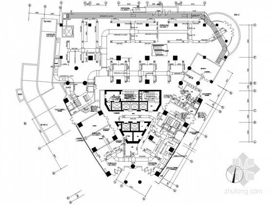 [上海]商业办公综合楼空调通风设计施工图(大院图纸)
