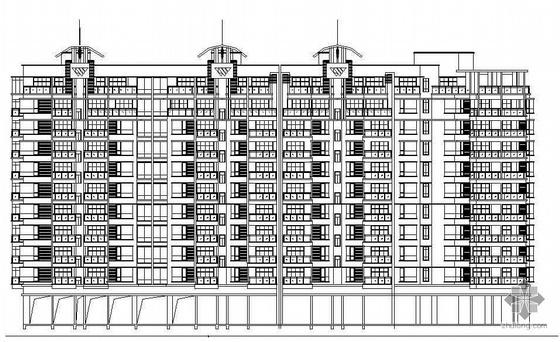 [广东省]某院设计南京某国际城高层组团建筑方案及施工图(包括效果图)