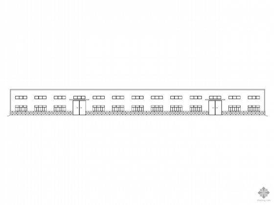 [黄山]某单层钢结构厂房建筑结构施工图