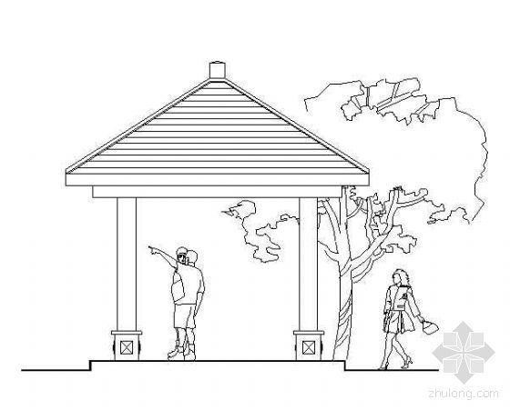 木结构四角亭全套施工图